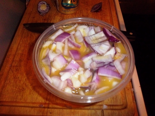 Marinating Onions
